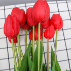 Flowers Pieces Wedding Wedding Decor Artificial Flowers Artificial Tulips Flowers Real Touch PU Tulip Buds 12 Pieces Bonsai For Home Room Office Party Wedding Decoration