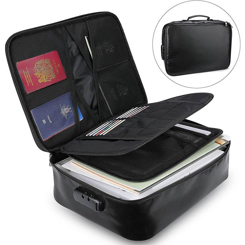 Safe Storage Fireproof Money Lock Bags Briefcase Bag Fireproof Document Bag