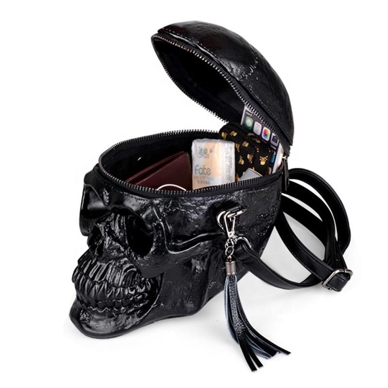 Оригинальная оригинальная 3d сумка-мессенджер из искусственной кожи с рисунком черепа