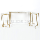 Metal Table Nesting Metal Modern Luxury Side Table With Glass Top And Carved Butterfly
