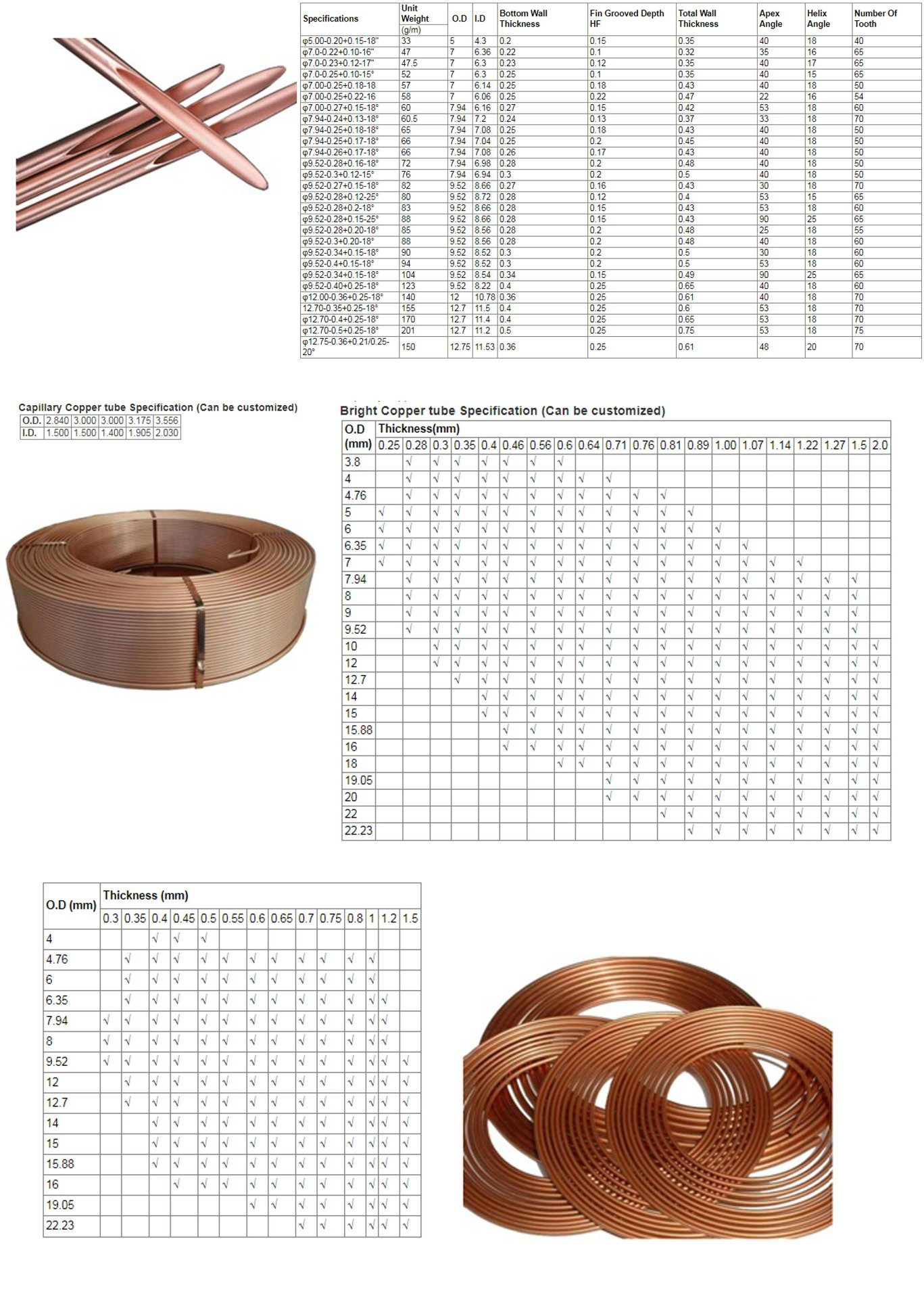 T2 copper coil tube 6 * 1 seamless copper tube for air conditioner copper tube outer diameter 6mm wall thickness 1mm inner diame