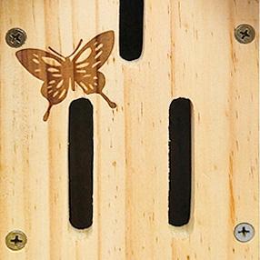 Weatherproof Paint Garden Solid Wood Butterfly Hanging Hibernation Box Wooden Butterfly House