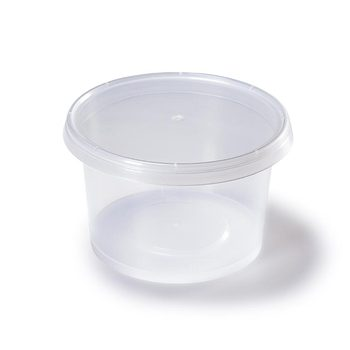 China supplies wholesale disposable 310ml round Soup bowl takeaway container plastic clear cup plastic cup with lid