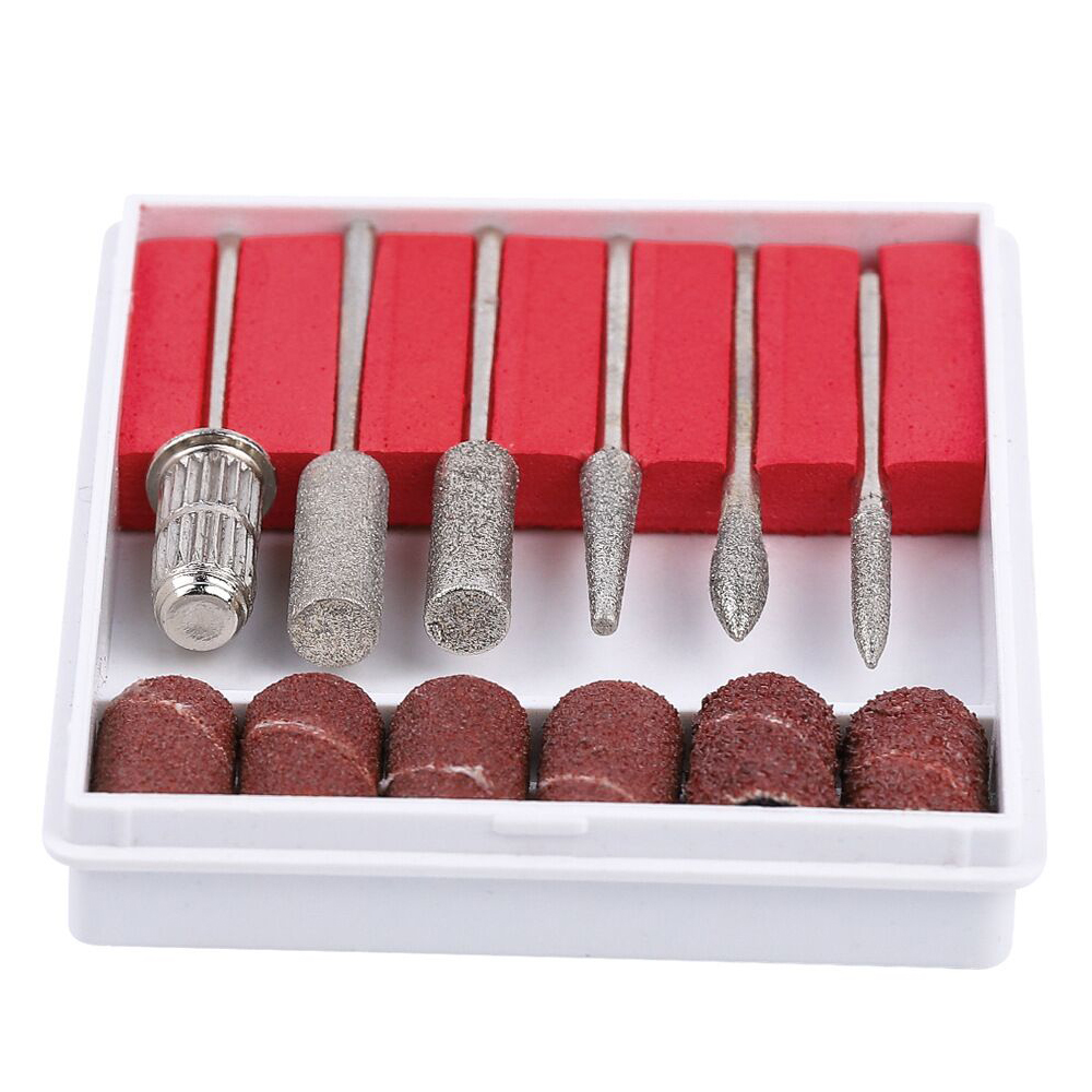 Шлифовальные кольцевые ленты, Набор бит для маникюра и педикюра, шлифовальный ленточный сверлильный инструмент