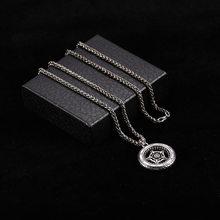 Новый хип-хоп персонализированный Череп Улыбка кулон ожерелье для мужчин стимпанк ожерелье с цепочкой, чокер ювелирные изделия для мужчин(Китай)