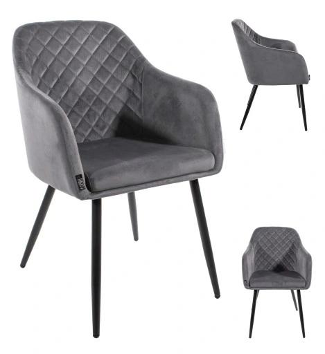 Popular Modern living Room Home Leisure Chair Metal Leg Velvet Dining Chair