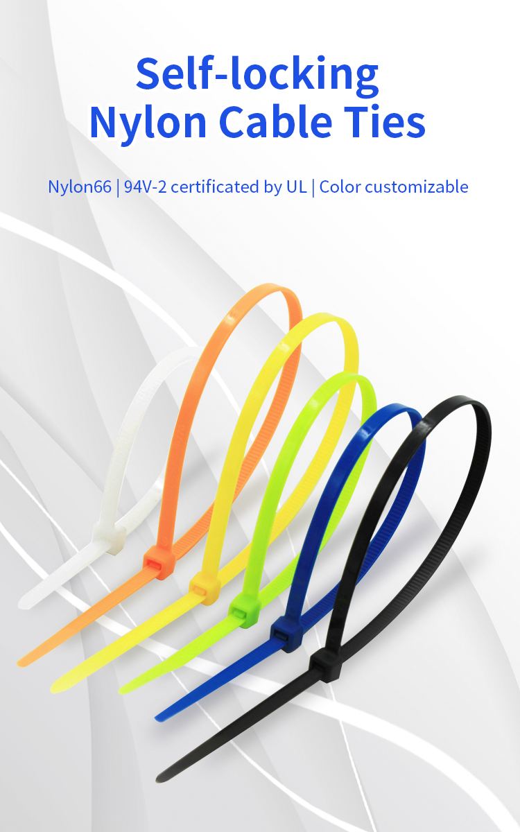100 Pieces 4*400 White Color Cable Ties, white Color Nylon 66 Zip Ties 4.0*400mm