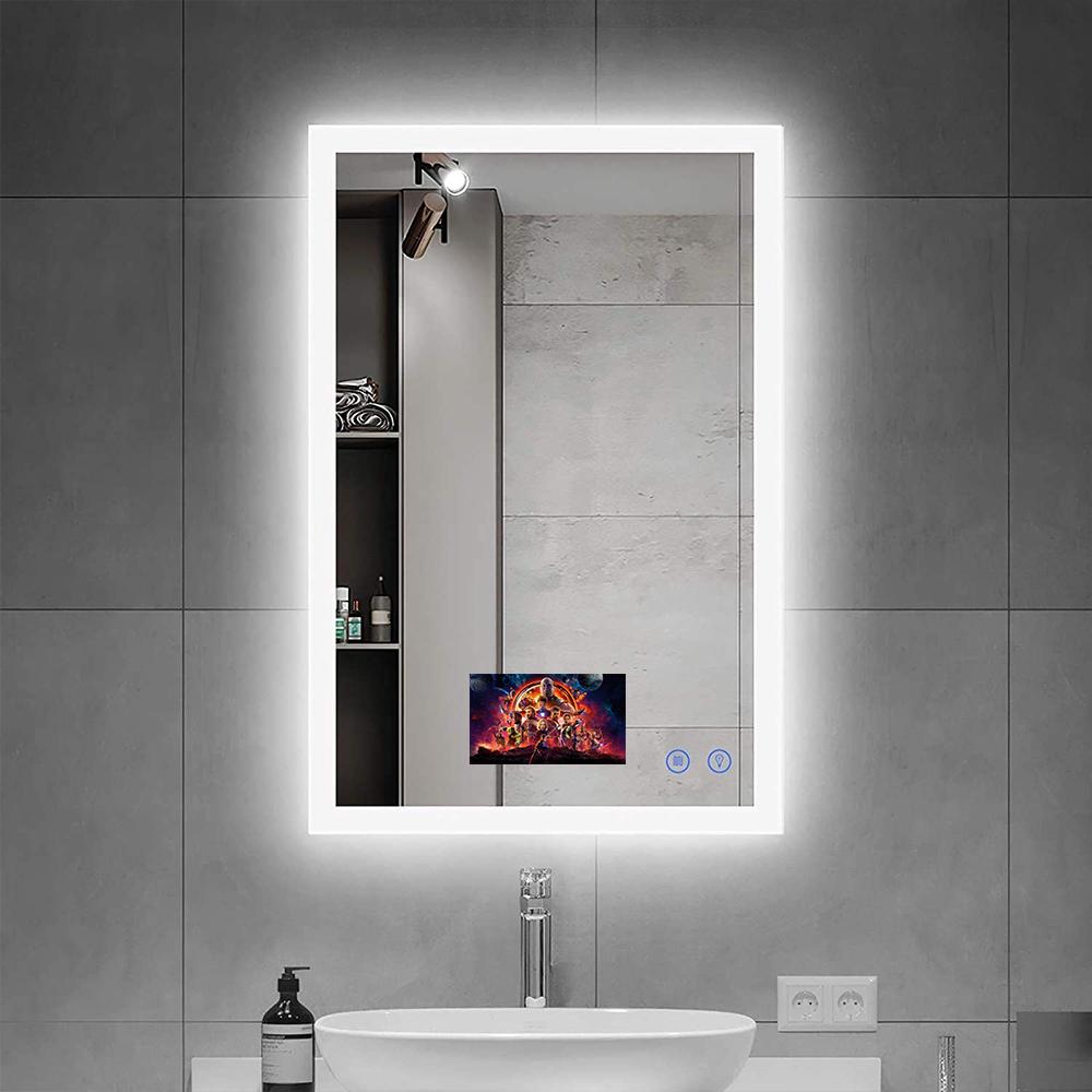 Bathroom Mirror With Shelf Bathroom Smart Mirror Led Light Mirror Buy Tv Mirror Bathroom Mirror Led Light Mirror Product On Alibaba Com