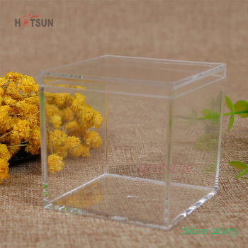 Transparent Cheap Price Plastic Sweet Packaging Box PS Material Candy Cube Clear Square Acrylic Box