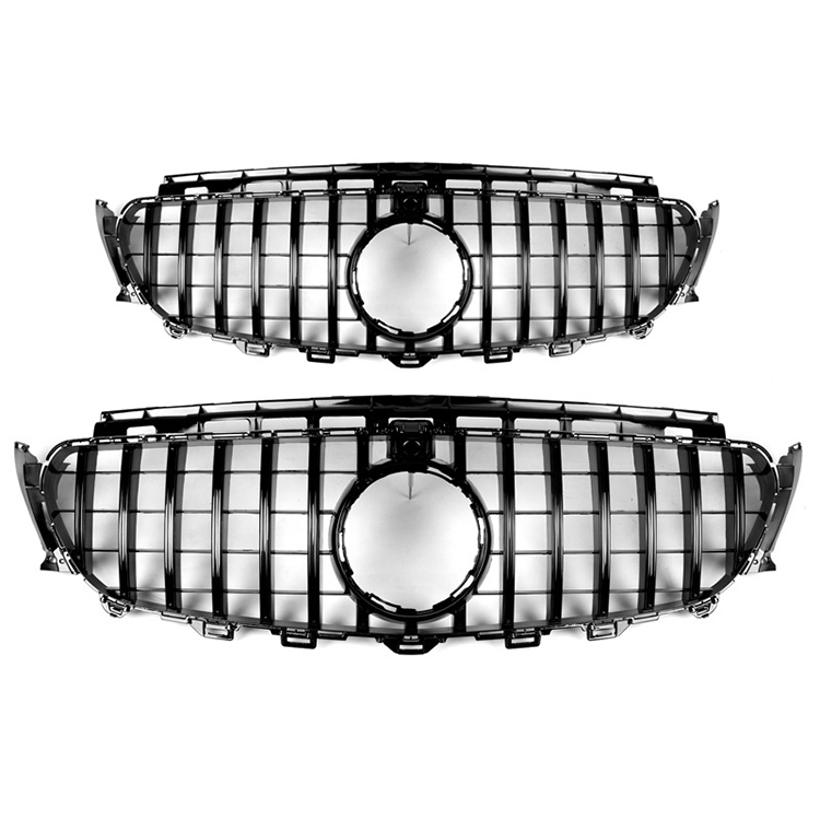For Benz new E Class W213 16-IN GTR Style black or silver Front Grille grill