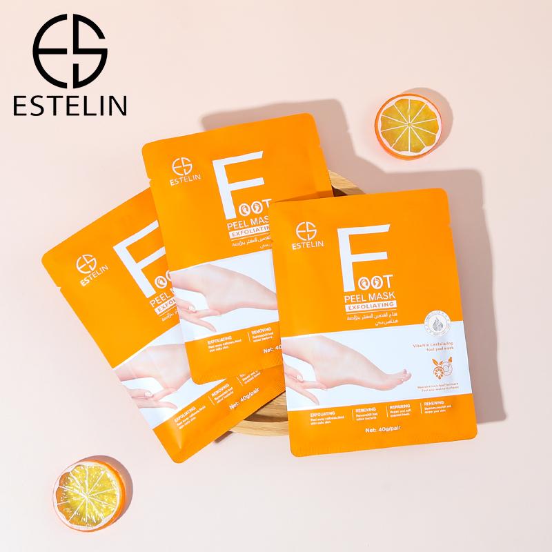 ESTELIN Foot Care Series Vitamin C Exfoliating Foot Peel Mask 40g*2pairs