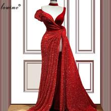 Большие размеры, красные платья знаменитостей в Дубае, 2020, винтажное платье русалки с красной ковровой дорожкой, платья на выпускной в арабс...(China)