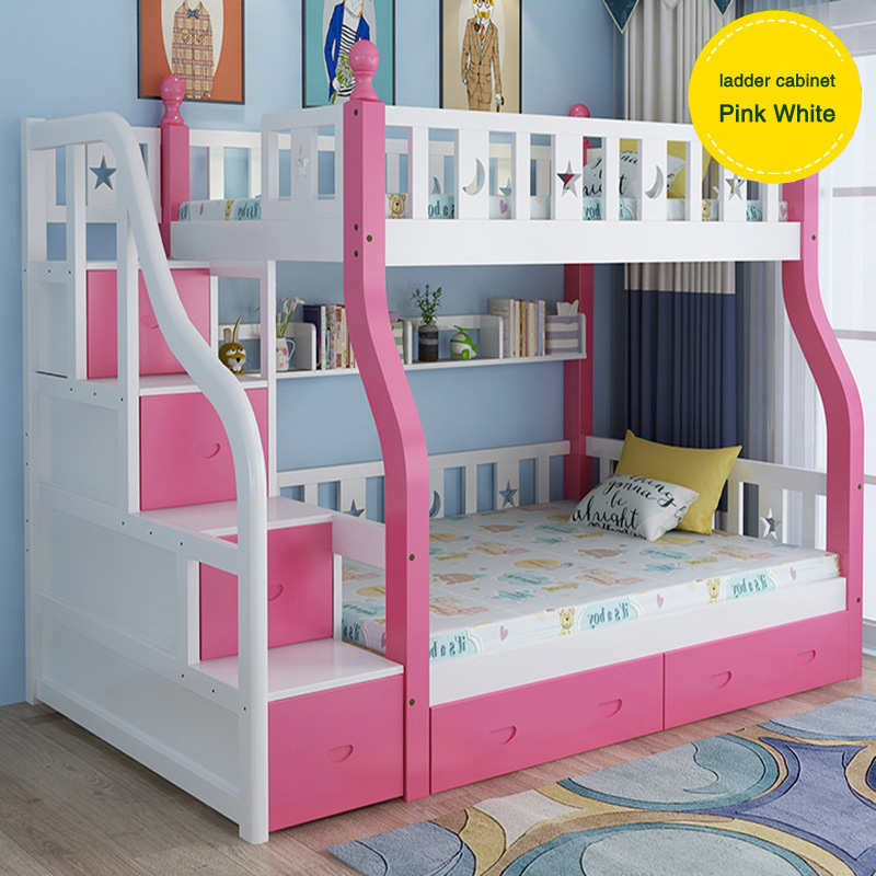 Blue And White And Pink Color Children Storage Bunk Bed Soild Princess Children Beds Girls Bunk Buy Children Storage Bunk Bed Soild Princess Pink Bunk Bed Children Children Beds Girls Bunk Product On