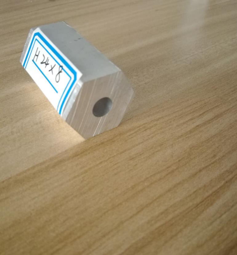 Toshine Anodized Aluminum Hexagon Tube 10mm Thickness