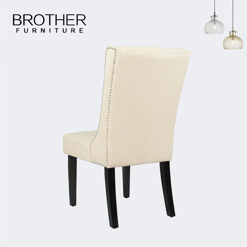 European Style luxury french style frame fabric dining table white dining chair