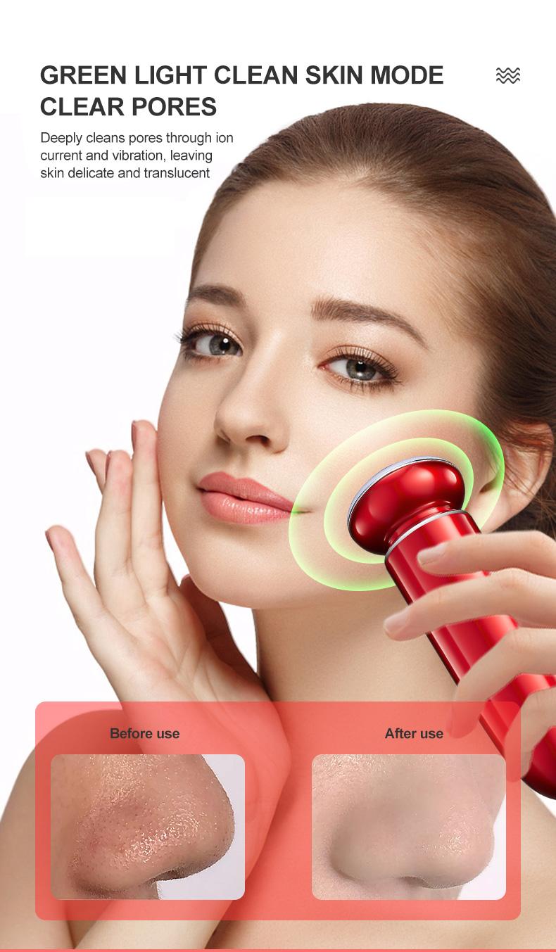 Bigsmile 2020 косметический инструмент микротоковый лифтинг для лица очищающий СВЕТОДИОДНЫЙ Прибор для подтяжки кожи радиочастотный аппарат RF оборудование