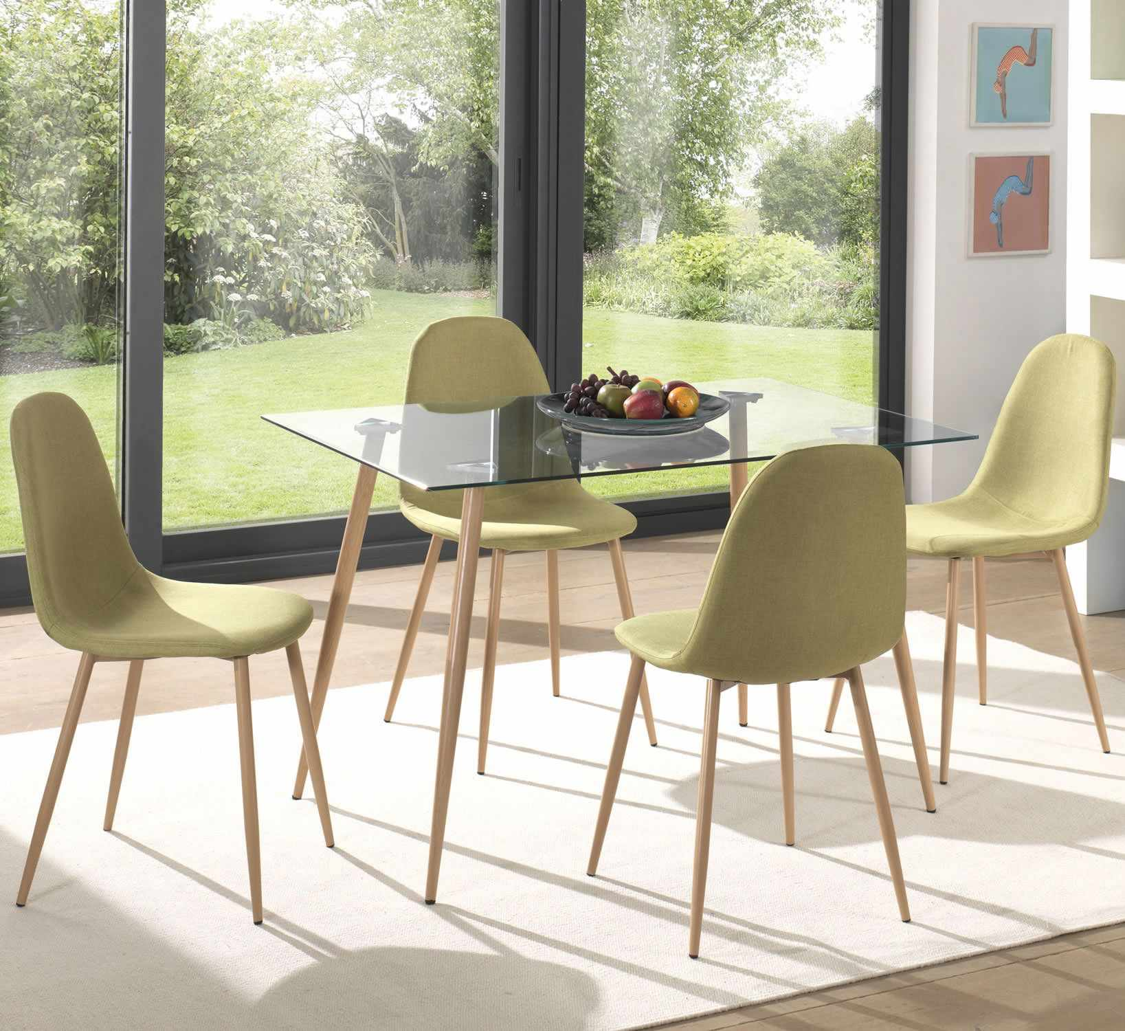 High Quality Glass Top Dining Table And Chairs Set Modern 9 Seats ...