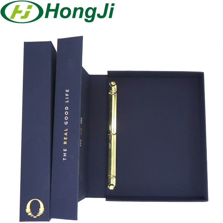 Customize High Quality Cloth Ring Binder 3 Ring Binder Embossed A4 File Folder