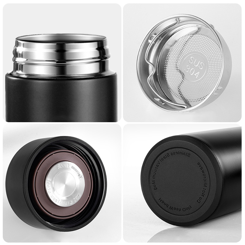 2021 Wholesale Designer Brand Vacum Thermo Bottle Themos Stainless Steel Thermos Vacuum Flasks With Temperature Display