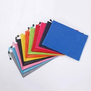 HIgh Quality Football Line Waterproof file zipper bag Fabric Zip File Bags Football Pattern Zip File Documents Storage Bags