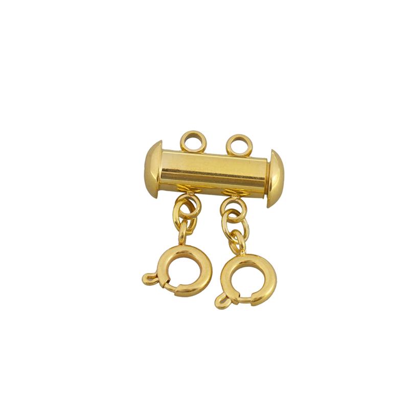 Лидер продаж, модная Магнитная застежка из нержавеющей стали с несколькими отверстиями и Пружинная Застежка для браслета, для изготовления ювелирных изделий своими руками