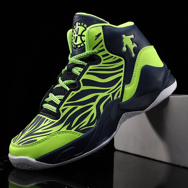 High Top Shock Absorption Men Basketball Shoes Non Slip Men Basketball Shoes