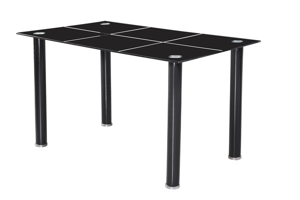 Modern design 6 seaters pvc seat and powder coating legs dining room chair furniture
