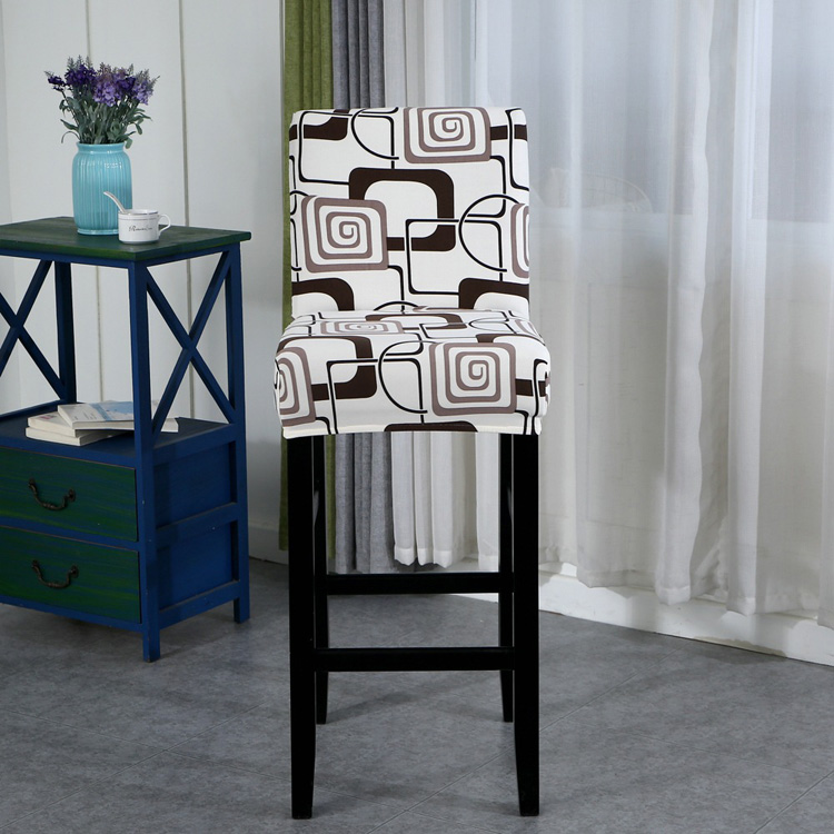 Geometric Dining Chair Cover Spandex Stretch Chair Cover Wedding Hotel Banquet Restaurant
