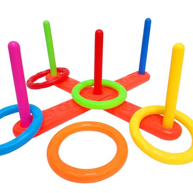 GARDEN OUTDOOR PLASTIC HOOPLA QUOITS RING TOSS GAME