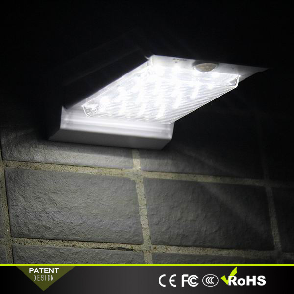Home security system solar lighting led light with motion sensor for wall mounted