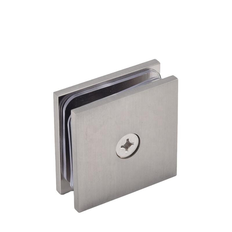 Сверхмощное настенное крепление для душа и ванной комнаты, Крепежное оборудование, квадратный угловой зажим, стеклянный зажим