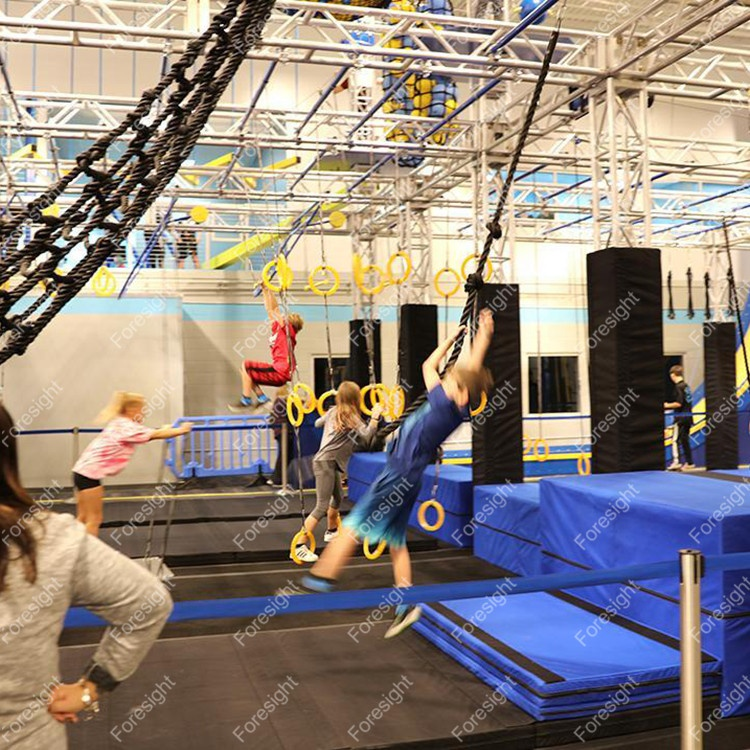 Customized Indoor Gym Equipment Ninja Warrior Obstacle Course for Adults