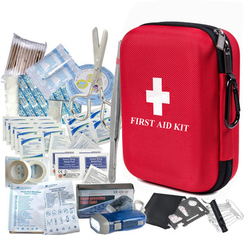 Waterproof Portable Essential Injuries EVA First Aid Medical Emergency Equipment Kit : for Car Kitchen Camping Travel Sports