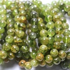 Natural rare mineral 8-10mm Peridot semi-precious gemstone stone loose beads for jewelry making bracelet