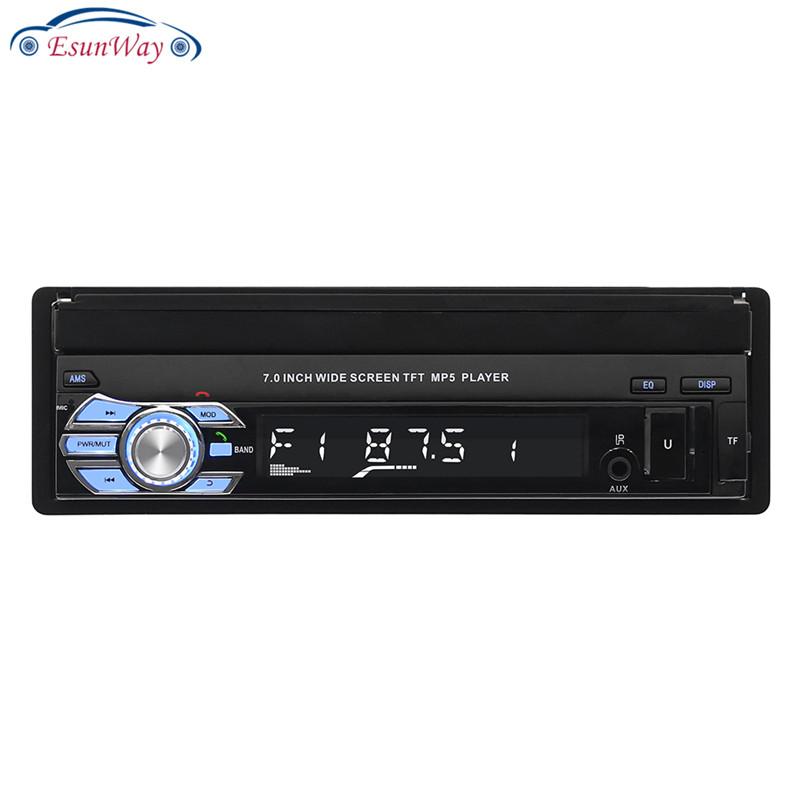 1Din 7 дюймов выдвижной сенсорный экран GPS навигации автомобиля стерео радио аудио MP5 плеер dvd Авто Радио стерео/USB/TF/Aux/сенсорный экран/Защита от влаги в приборной панели