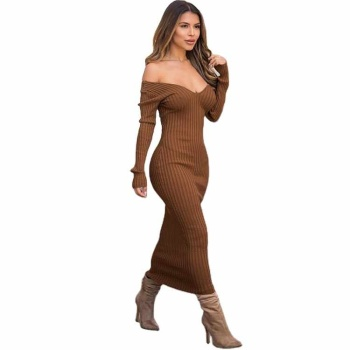 wholesale dress vendors boutique women clothing for adults design for ladies casual dresses womensolid color frock