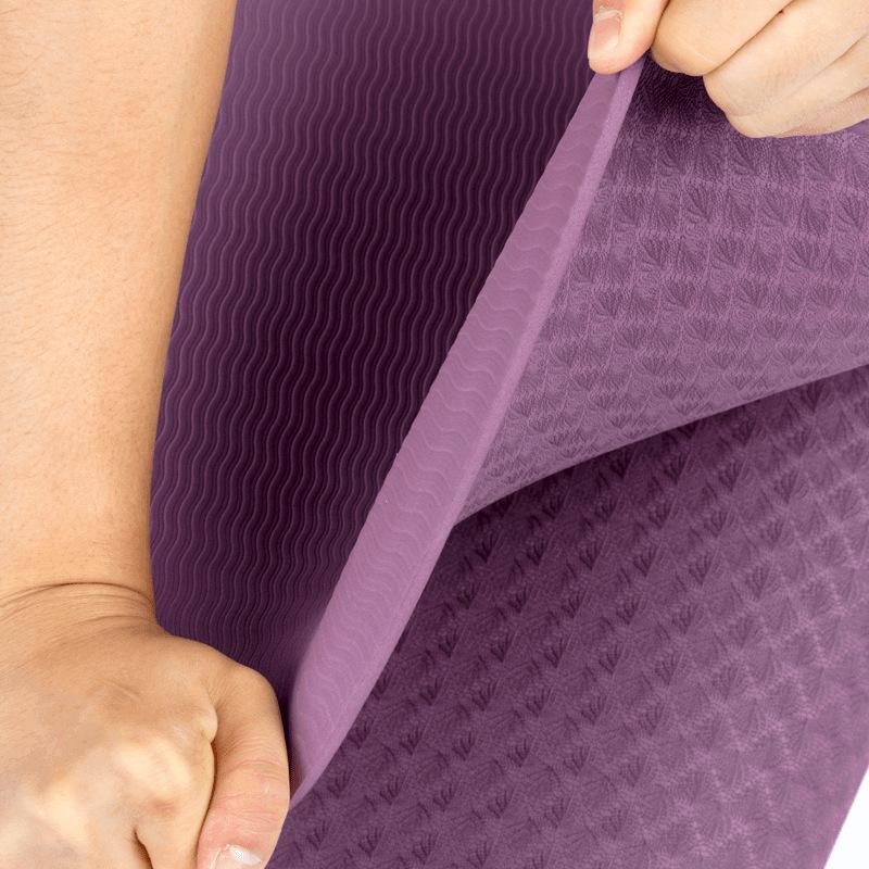 Противоскользящий коврик для йоги из ТПЭ диаметром 6 мм с логотипом производителя двигателя, размер под заказ, для фитнеса, дома, тренажерного зала, Amazon