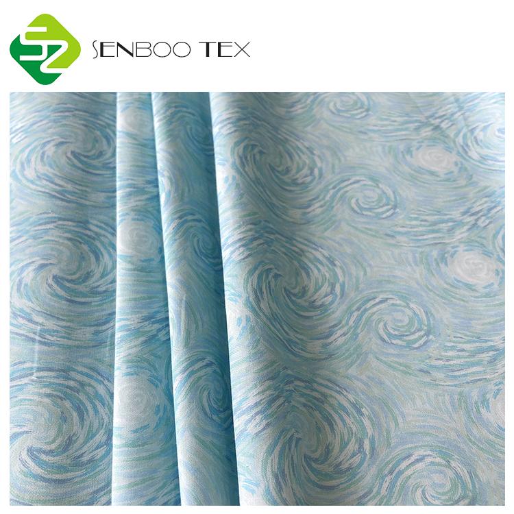 Экологически чистая печатная Органическая египетская хлопковая ткань для сна