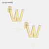 W - gold or rhodium