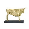 Black marble brass cow ornaments