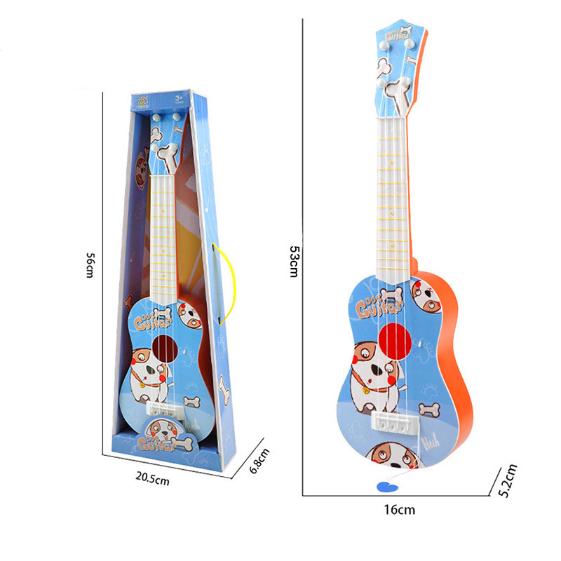 1-2 Children's simulation instrument Mini four strings can play enlightenment music toy little guitar