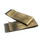 bank promotional free gifts antique gold cash money clip