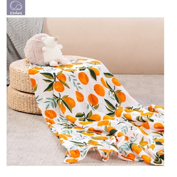 Elinfant No MOQ 2020 bamboo Swaddle Designs comfort 100% Cotton Baby Muslin Swaddle Blankets