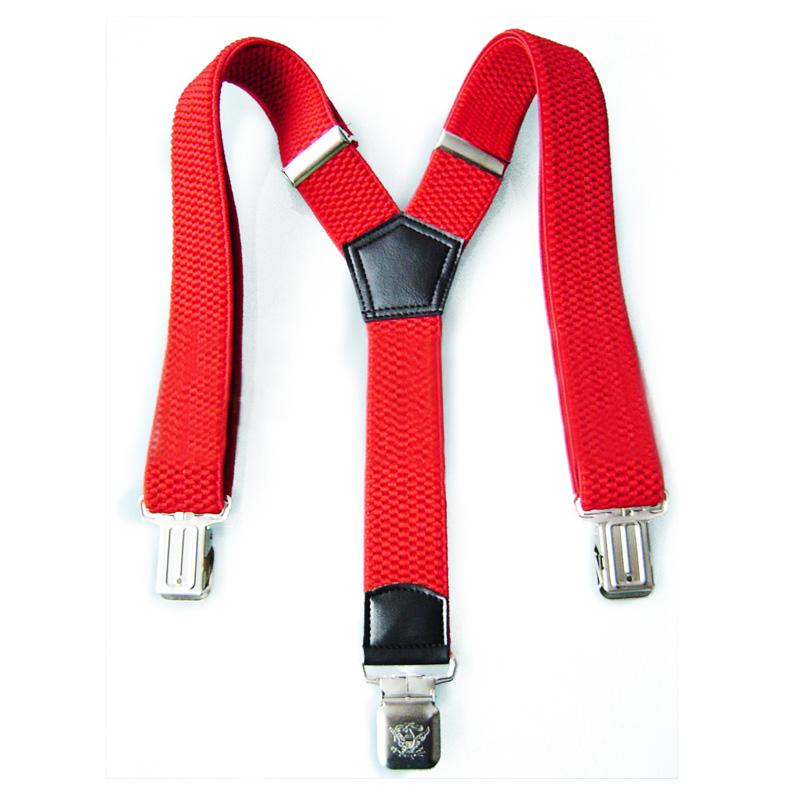 Пользовательские 2,5 см Y-образные красные декоративные тканые эластичные подтяжки для детей