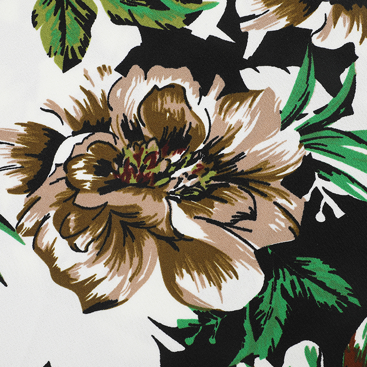 Spring autumn new arrival floral printed knitting and garments breathable polyester with spandex fabric