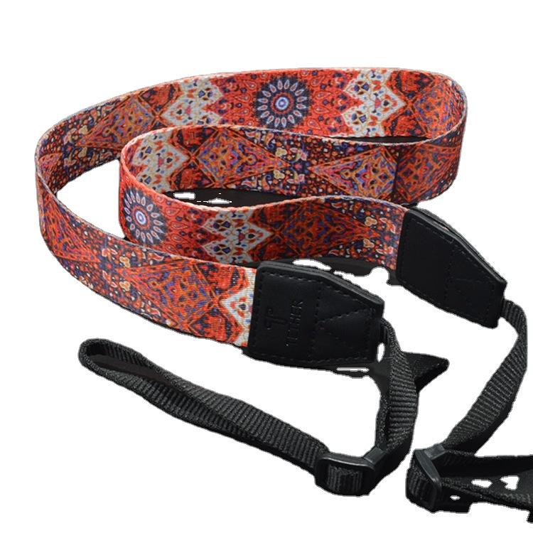 2021 Custom Durable Elastic Adjustable Camera Neck Shoulder Straps Leather Camera Strap