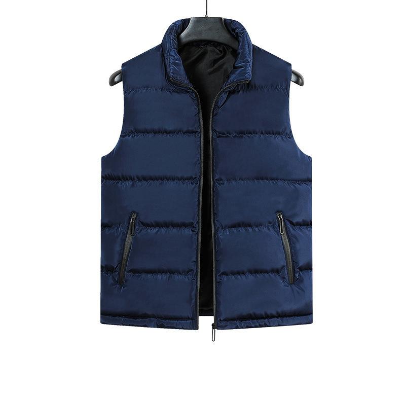 Модная зимняя куртка без рукавов на молнии с логотипом на заказ, черная Стеганая пуховая Водонепроницаемая Мужская куртка, новинка 2021