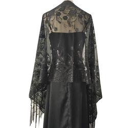 Elegant Women Sequin Shawl Bridal Tassel  Wraps and Cape Wedding and Evening Party Dress Shawls