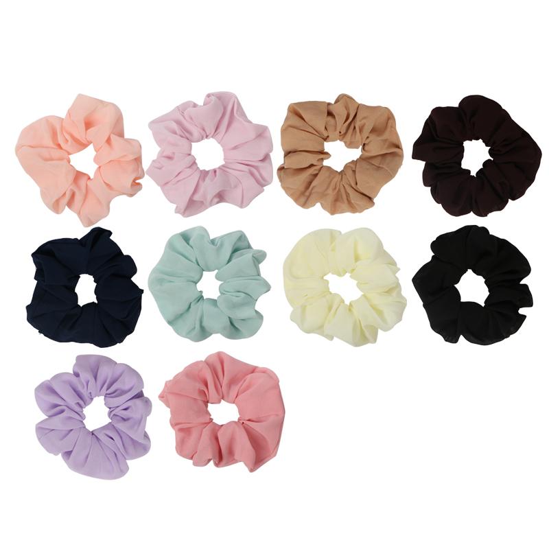 Лучшее обслуживание Модные клетчатые цветные шифоновые ткани резинки для волос
