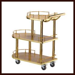 High-end Hotel Tea Wine Service Cart Banquet Restaurant Wine Cart Dessert Cart